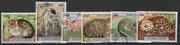 гашеные почтовые марки коты, 6 марок, серия КАМБОДЖА